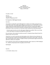 divorce source child support increase request letter payee to