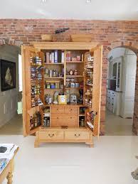 Freestanding Kitchen Cabinets by Kitchen Alluring Brown Finish Freestanding Kitchen Pantry Cabinet