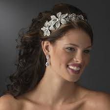 silver headband stunning antique silver flower headband bridal hair