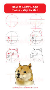 How To Draw Meme - how to draw doge meme step by step infographic facedrawer