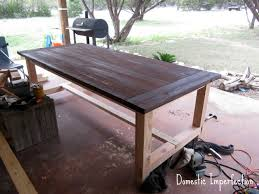 diy dining table bench diy farmhouse table and bench domestic imperfection