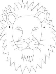 coloring page lion cub mask printable kids draw print face guard