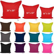 Chocolate Cushion Covers Plain Cushion Covers 100 Cotton Decorative Pillow Cases 16x16