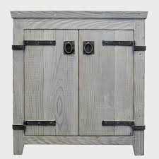 Grey Wood Bathroom Vanity Americana Rustic Bathroom Vanity Bases Native Trails
