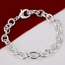 chain link bracelet silver images H182 freeshipping fashion bracelet silver color jewelry jewellry jpg
