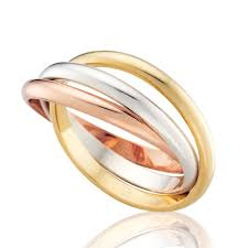 russian wedding rings tri gold high dome russian wedding ring