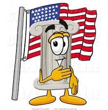 A American Flag Pictures Avenue Clipart Of A Patriotic Pillar Mascot Cartoon Character