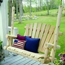 Cedar Patio Furniture Sets - lakeland mills 4 u0027 porch swing walmart com