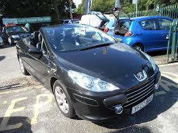 used peugeot cars for sale uk used peugeot 307 cc convertible 1 6 16v allure 2dr in sale