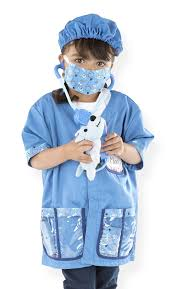 amazon com melissa u0026 doug veterinarian role play costume dress up