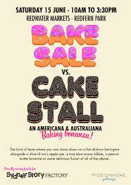 bake sale vs cake stall local sprouts