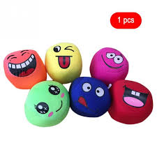 durable smile face juggling balls kids outdoor sports toy classic