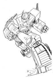 optimus prime coloring page free printable transformers coloring