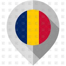 Flag Romania Map Pin With Romania Flag On White Background Royalty Free Vector