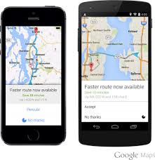 Google Maps Route by Google Maps App Now Continually Searching For Faster Route