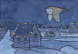owl christmas barn owl christmas card 100 owls