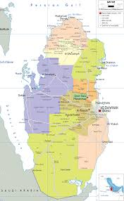 Asia Political Map Detailed Clear Large Map Of Qatar Ezilon Maps