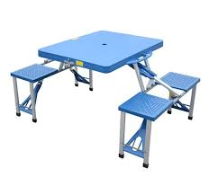 picnic tables folding with seats outsunny folding picnic table chair set junior outdoor seating