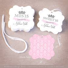 favor tags 150 quinceañera favor tags personalized mis 15 sweet 16 favor