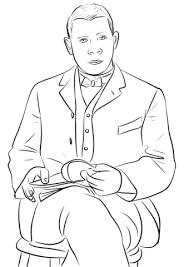 booker t washington coloring page free printable coloring pages