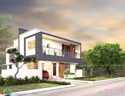3 bedroom contemporary flat roof 2080 sq ft kerala home design