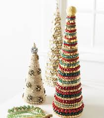 create some festive holiday diy decor with beaded holiday trees