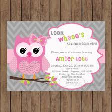 owl birthday invitation pink gray owl baby shower invitation