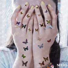 finger tattoo stickers women sexy temporary tattoo butterfly pattern makeup finger ear mini