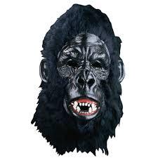 black halloween mask mask deluxe gorilla black bert the party bazaar