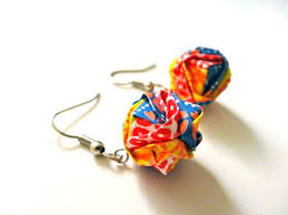 origami earrings modular origami earrings