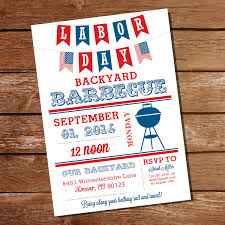 labor day bbq invitation labor day party summer cookout