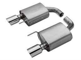 ford racing exhaust mustang v6 ford performance by borla mustang touring axle back exhaust m 5230