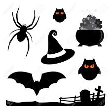 halloween clipart bat halloween elements spider owls witch hat cauldron bat