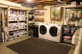 Ideas For Unfinished Basement Laundry Room Amazing Room Design Cool Unfinished Basement