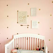 Purple Nursery Decor Gold Polka Dot Wall Decal Nursery Decor Bedroom Wall Decals
