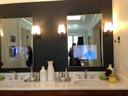 tv in a mirror bathroom bathroom tv mirror 22 with bright lighted mirror design