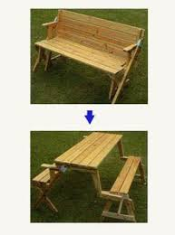 Folding Picnic Table Bench Plans by This Folding Picnic Table Is The Next Great Thing For That