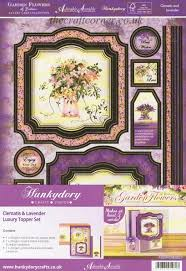 hunkydory crafts clematis lavender luxury topper set by hunkydory