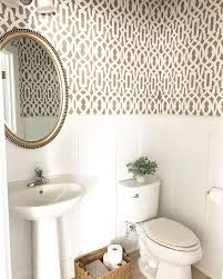 bathroom stencil ideas diy easy affordable bathroom wallpaper ideas trellis wall stencil