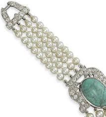 cartier u0027s art deco pearl diamond and turquoise bracelet