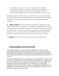 general and provisional specifications of patents