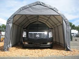 Garage With Carport Portable Garages Temporary Carports All Weather Shelters