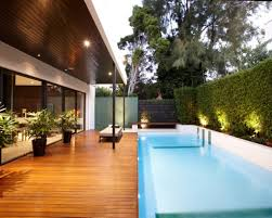 modern luxury home design with amazing finished wooden pool deck