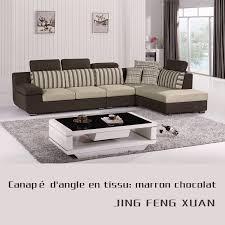 canapé tissu marron canapé angle en tissu marron chocolat salon meubles maison le