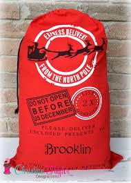santa sacks personalized santa sacks santa sleigh design sack christine