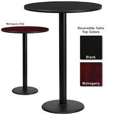 round table bar bar height hospitality table round base black mahogany 30 x