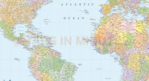 Bahamas World Map Vector World Map America Centric Political Gall Projection With