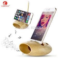 aliexpress com buy cell phone charging dock wooden speaker desk
