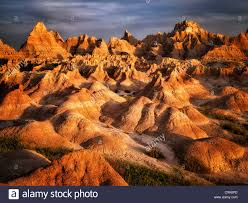 South Dakota national parks images Eroded rock formations in badlands national park south dakota jpg