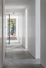 small corridor design modern house with grey flooring tile haammss